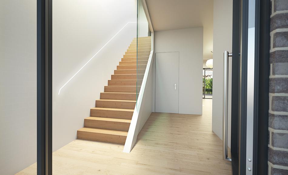 3D Architektur Visualisierung Treppenhaus