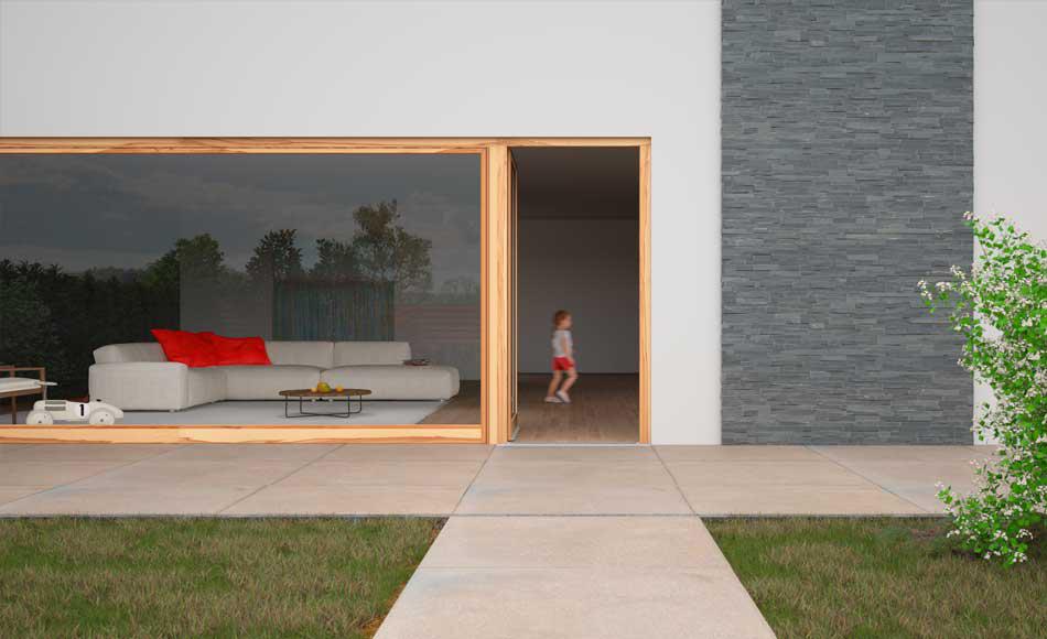 3d rendering exterior terrasse